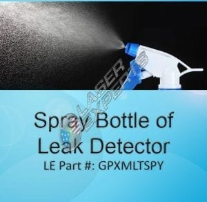 Spray bottle of leak detector
