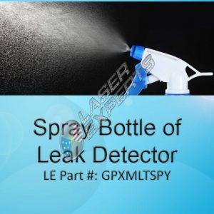 Spray bottle of leak detector
