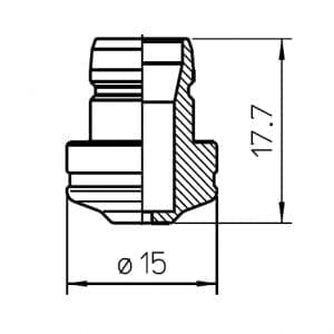 Bystronic Nozzle centering, 2.0 mm