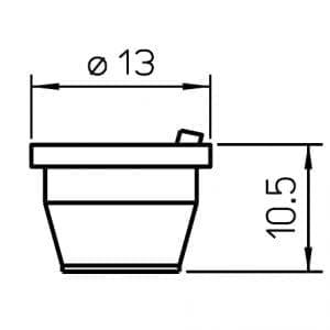 """Precitec Nozzle Holder KT M1.5"""" K S OEM, Ceramic"""